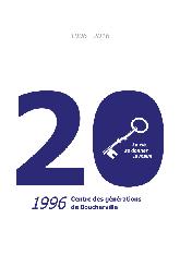 Feuillet de l'histoire des 20 ans du Centre des Générations de Boucherville